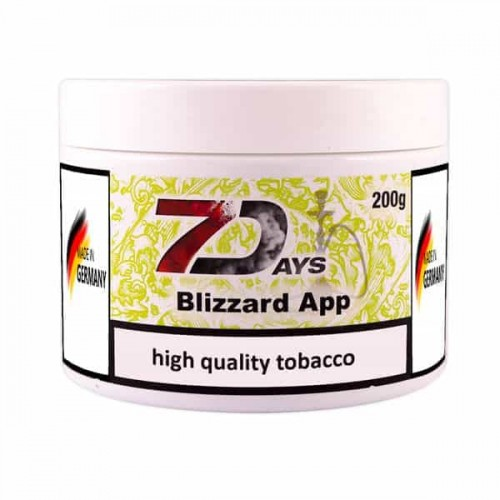 Tobacco 7Days Blizzard App (Apple Blizzard) - 200 grams