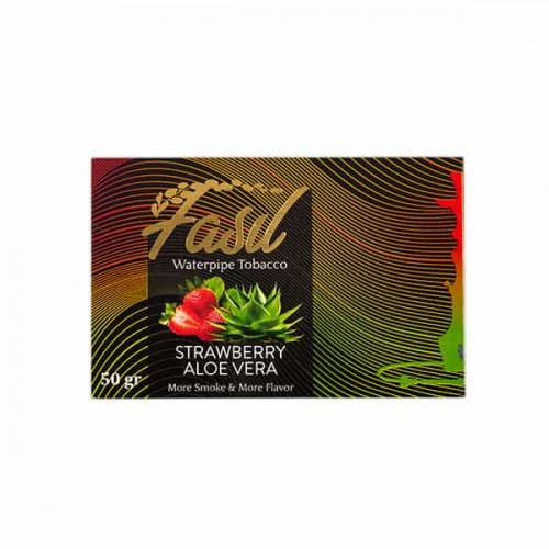 Табак Fasil Strawberry Aloe Vera (Клубника с Алое Вера) - 50 грамм