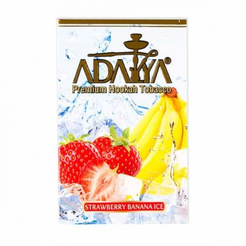 Табак Adalya Strawberry Banana Ice (Лед Клубника Банан) - 50 грамм