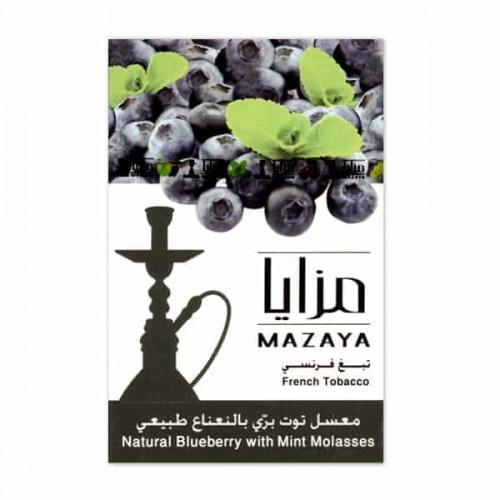 Тютюн Mazaya Blueberry with Mint (Чорниця з М'ятою) - 50 грам