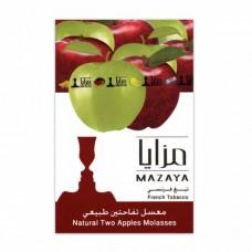 Тютюн Mazaya Two Apples (Подвійне Яблуко) - 50 грам