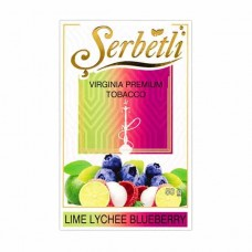 Табак Serbetli Lime Lychee Blueberry (Лайм Личи Черника) - 50 грамм