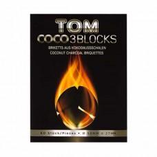 Coconut charcoal Tom Cococha Silver 1kg (60 pcs)