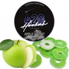 Табак 420 Dark Line Apple Squirt (Яблочная Конфета) - 250 грамм