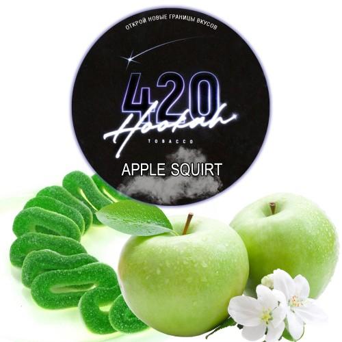 Табак 420 Dark Line Apple Squirt (Яблочная Конфета) - 100 грамм
