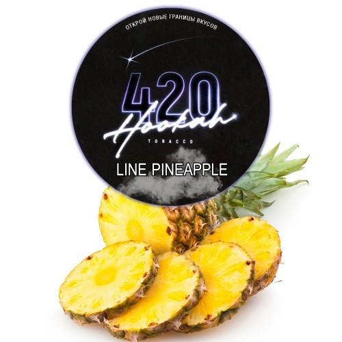 Табак 420 Dark Line Pineapple (Ананасовые Кольца) - 100 грамм