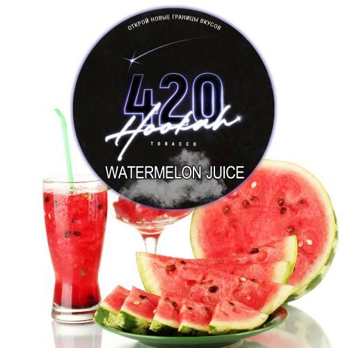 Табак 420 Dark Line Watermelon Juice (Арбузный Фреш) - 100 грамм