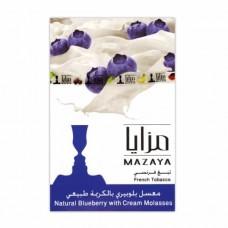 Тютюн Mazaya Blueberry with Cream (Чорниця Крем) - 50 грам