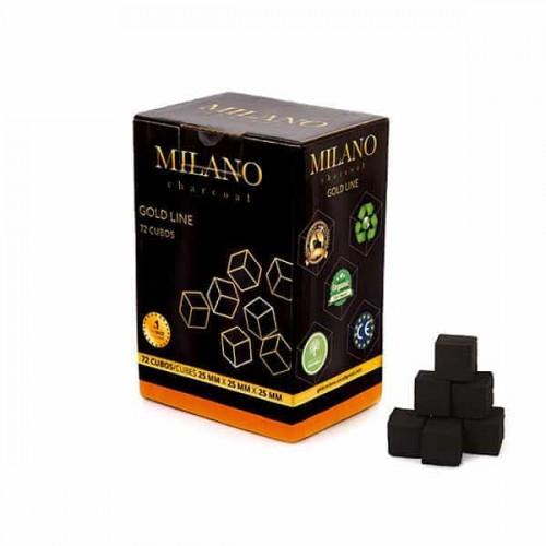 Coconut coal Milano Gold 1kg (72 pcs)