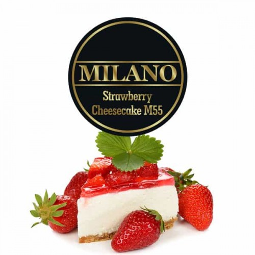 Тютюн Milano Strawberry Cheesecake M55 (Полуничний Чізкейк) - 500 грам