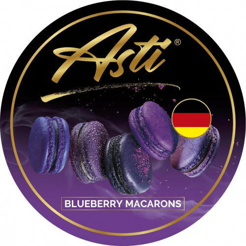 Табак Asti Blueberry Macarons (Черника Макарон) - 100 грамм