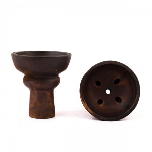 Чаша для кальяна классическая Lex Amber (глина)