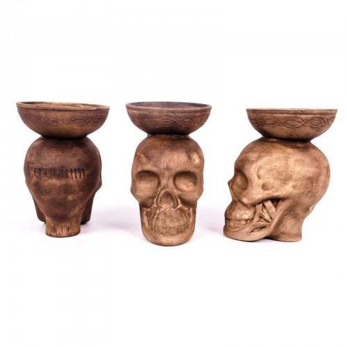 Чаша для кальяна Loft Череп (глина)