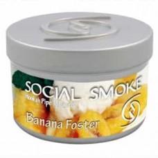 Табак Social Smoke Banana Foster (Банановый Десерт) - 100 грамм