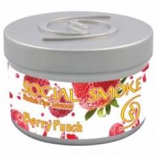 Табак Social Smoke Berry Punch (Ягодный Пунш) - 100 грамм