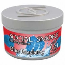 Табак Social Smoke Blue Raspberry (Голубая Малина) - 100 грамм