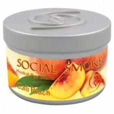 Табак Social Smoke Cali Peach (Кали Персик) - 100 грамм