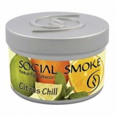 Табак Social Smoke Citrus chill (Цитрус Мята) - 100 грамм