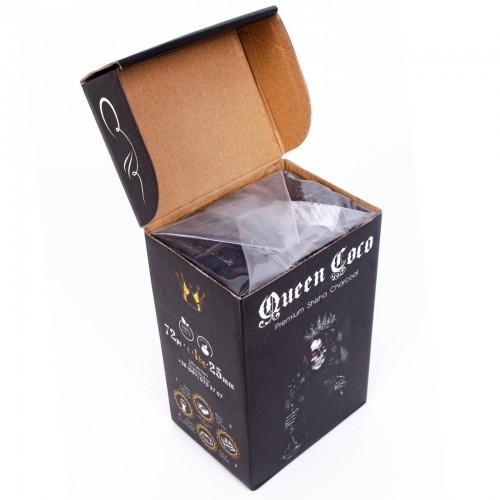 Уголь кокосовый Queen Coco 1кг (72 шт)